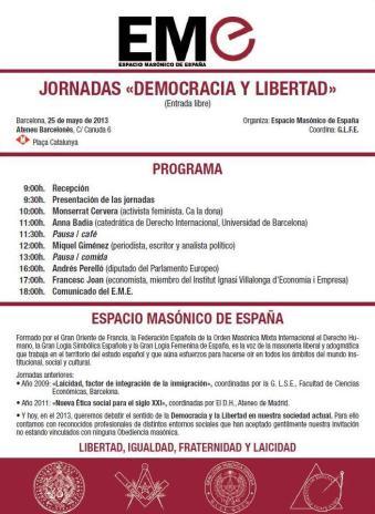 Jornadas del EME: democracia y libertad